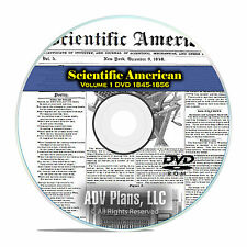 Scientific American, 570 Vintage Issues, 1845-1856, Volume 1 Science PDF DVD F38