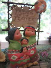 Friends Of The Feather Collection - Cute Little Indian Family Figurine - Enesco