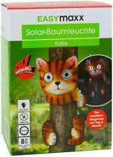 EASYmaxx Solar LED Leuchte Katze Solarleuchte Baumleuchte große Reflektor Augen