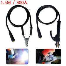 1.5M 300Amp Welding Earth Clamp Stick Welder Cable For Arc Igbt Machine