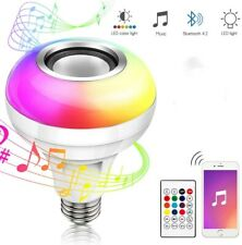 Wireless Bluetooth Led Light Speaker E27 12W Bulb Rgb Music Playing lamp Remote