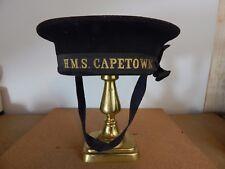 WW2 Cruiser HMS Capetown Cap Tally Pre WW2 Dot with original cap