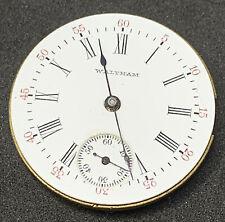 Waltham Pocket Watch Movement 1891 Seaside Model 0s 7j Antique Ticking F2127