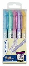 Pilot Frixion Light Soft Erasable Highlighters - 'Pastel Colours' Set of 5 Pens