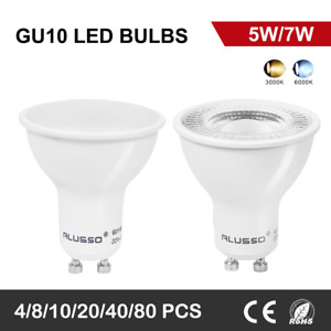 Pack of 4/10 SMD LED GU10 Light Bulbs 5W 7W Warm Cool Day White Down Spotlight