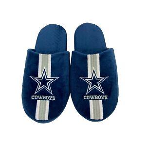 Dallas Cowboys NFL Men's Team Stripe Slipper, 4 Sizes Available, FREE SHIP