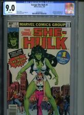 SAVAGE SHE-HULK #1 CGC 9.0 WHITE Pgs Origin & 1st Appearance of Jennifer Walters