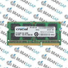 4GB DDR3 RAM Crucial CT51264BC1339 SO-DIMM - 2Rx8 PC3-10600S-9-10-FP NEU