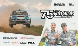 2017 David Higgins Subaru Rally Team Impreza WRX STI Rally America B/B postcard