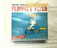 Vtg Toytown  Flippty Flyer Toy  Japan Battery Operated In Box 1960's