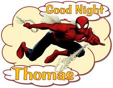 "SPIDERMAN Personalized PILLOWCASE ""Good Night"" Any NAME Printed Colorful"