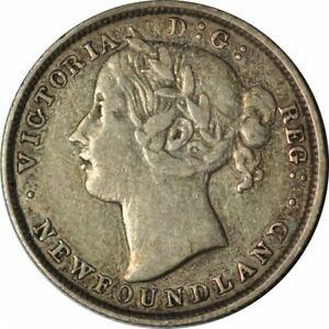 1873 Canada Newfoundland 20c Twenty Cents Silver Coin-High Grade Circ! -d332htut
