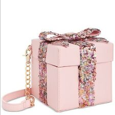 Betsey Johnson GIFT BOX Pink Sequin Bow Purse Bag Birthday Mother's Day Present