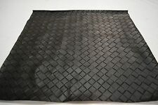 "2NDS FABRIC BLACK LATTICE BASKET WEAVE VINYL UPHOLSTERY FABRIC SQUARE 21"" BY 20"""