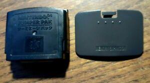 Authentic OEM Nintendo 64 Jumper Pack Pak + Memory Pack Lid Cover