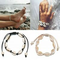 1Pc Natural Cowrie Beads Shell Anklet Bracelet Handmade Beach Foot Jewelry Gift