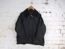 """Vintage Mens Barbour bedale Black wax jacket C40 102cm 17"""" CHEST S/M"""