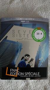Seven Sisters steelbook special fnac avec sticker noir blu-ray 4K-2D