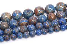 Natural Blue Calsilica Jasper Beads Grade AAA Round Loose Beads 4/6/8/10/12MM