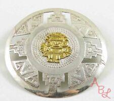 Sterling Silver Vintage 925 Filigree Myan Brooch (3.4g) - 806365
