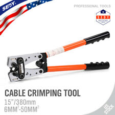 Cable Lug Crimping Tools Hand Electrician Pliers Crimper Wire Cable 6-50mm² 10-0