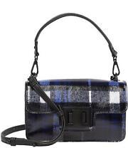 STEVE MADDEN BRIT Blue PLAID Crossbody Handbag