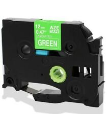 """Q-Label 12mm (1/2"""") TZe Tape Compatible For Brother P-Touch (White on Green)"""