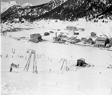 MONTGENÈVRE c. 1947 - Station de Ski  Hautes Alpes - Négatif 6 x 6 - N6 PROV27