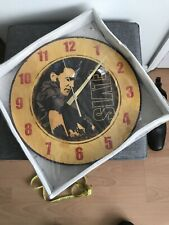 elvis wall clock 12inch new sealed
