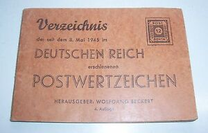 Directory 8. May 1945 IN German Empire Postwertzeichen Wolfgang Beckert