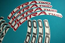 CAMPAGNOLO BORA ULTRA TWO DARK / RED  3D DESIGN REPLACEMENT RIM DECAL SET