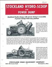 Equipment Brochure - Stockland - Hydro-Scoop with Power Dump - c1958 (E3590)