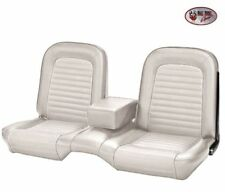 1964-1/2 -1965 Ford Mustang Coupe White Front Bench Seat Upholstery - by TMI