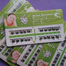 20 X Dental Orthodontic Brackets Brace Metal Standard MBT 022 345 hooks Tooth