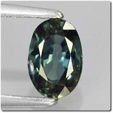 BLUE SAPPHIRE GREEN 0.89 cts. SI1. Australia. With Certificate of authenticity