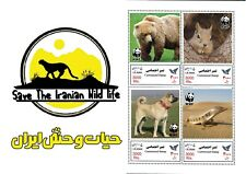 Irran 2021 lizards dogs baer squared wwf customized stamps s/s  MNH