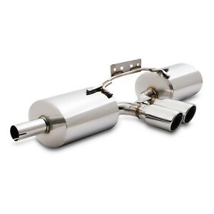 STAINLESS CAT BACK EXHAUST SYSTEM BACK BOX FOR PORSCHE BOXSTER 986 2.5 2.7 3.2