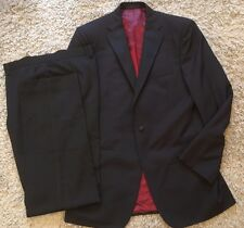 "Marks & Spencer Autograph Mens Black Tuxedo Suit 40""L Jacket, 36""L Trousers"