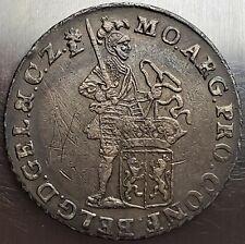 1 Ducat 1764 Crowned Arms Dutch Republic Zeeland Netherlands TOP Grade Rare!!!
