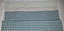 8 Classic shades of green check cotton placemats