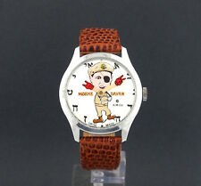 Vintage wind-up Moshe Dayan Political Character Watch by A.M.Co.