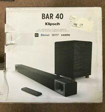 """Klipsch 40"""" Sound Bar with 6.5"""" Wireless Subwoofer HDMI Bluetooth"""