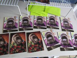 Lot of 11 Gorilla Pipe Newspaper Father's Day Card Greeting Avanti Press USA