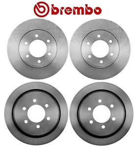 For Lincoln Navigator Ford Expedition Front & Rear Brake Disc Rotors Kit Brembo