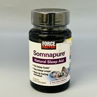 Force Factor Somnapure Natural Sleep Aid - 30 Tablets  Exp 1/22+