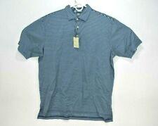NEW Peter Millar Mens Large Golf Polo Shirt Striped Crown Sport Blue Purple $95