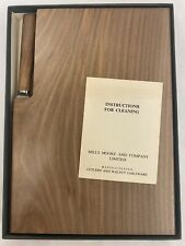 Vintage Mills Moore Walnut Cheeseboard with Stainless Steel Cheese Knife (D3)