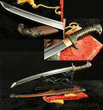 "30"" DAMASCUS FOLDED CARBON STEEL BLADE FULL TANG  ROSEWOOD SWORD"