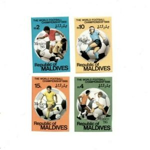 Maldives 1986 SC# 1176-9 World Cup Soccer, Football - Imperf Set of 4 Stamps MNH