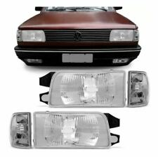 VW VOLKSWAGEN FOX 91 92 93 94 95 CRYSTAL CLEAR HEADLIGHTS TURN SIGNAL